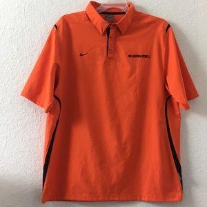 ✅Men Nike Vintage Oklahoma State Polo shirt L